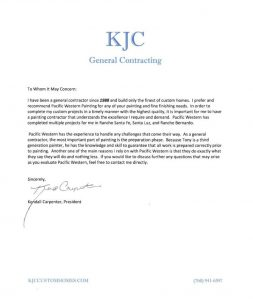 KJC General Contracting, PacWest Painting