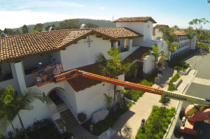 Painting a resort in Carlsbad, San Diego County