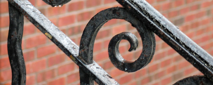 Eroded Wrought Iron Fence - Iron Contractor Services